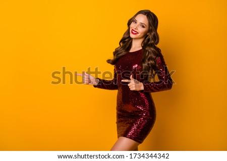 Style girl in red dress. stock photo © Massonforstock