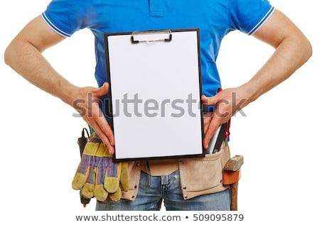 職人 帳 建設 壁 作業 ストックフォト © photography33