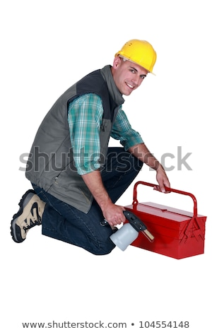 craftsman holding his tool box and welding torch stock photo © photography33
