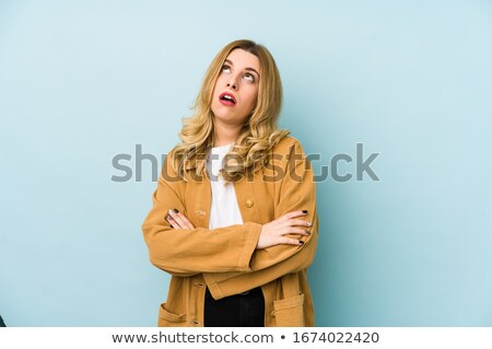 Uninterested blond office worker Stock photo © photography33