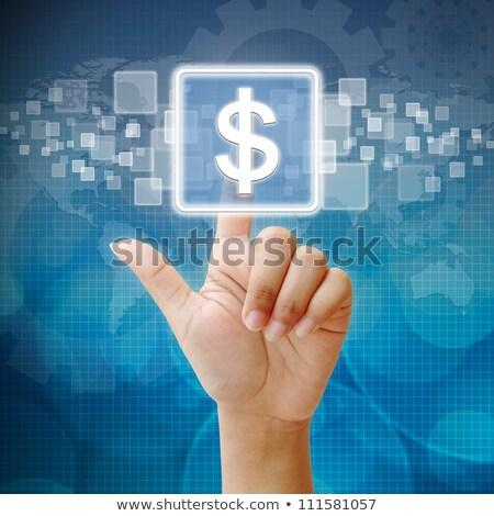 üzletember · kisajtolás · dollárjel · üzlet · pénz · kéz - stock fotó © vlad_star