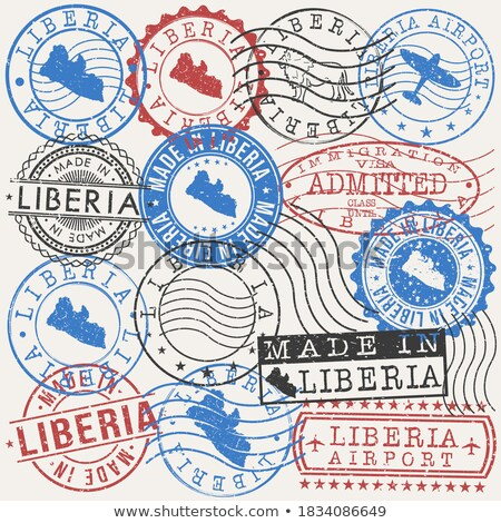 Liberian  post stamp Stock photo © Taigi