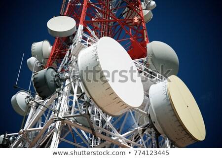 Telekomünikasyon towers anten tv cep telefonu iş Stok fotoğraf © ziprashantzi