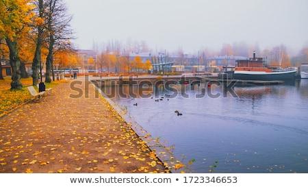 порт Финляндия красивой крепость воды спортивных Сток-фото © Estea