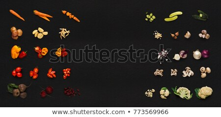 Garlic isolated on a black background Stock photo © shutswis