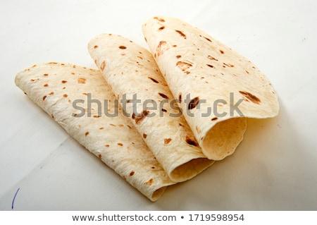 Tacos ekmek arka plan akşam yemeği pişirme Meksika Stok fotoğraf © M-studio
