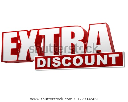 extra discount red white banner - letters and block Stock photo © marinini