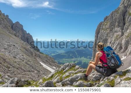 View to 'Ellmauer Tor', Tyrol, Austria Stock photo © haraldmuc