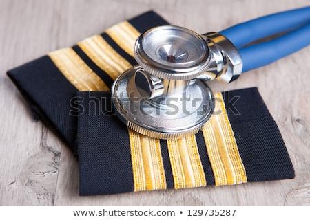 Exame avião documentos médico piloto Foto stock © Amaviael