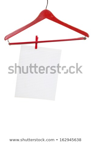 Red Wood Hanger and Notepaper Stock photo © devon