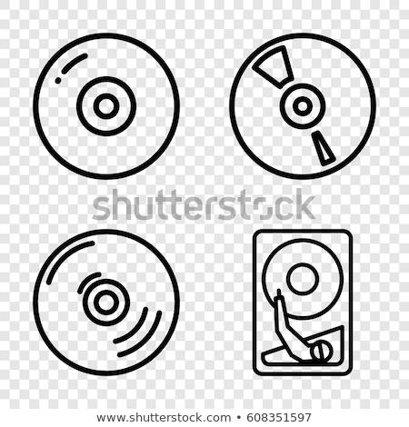 Vektor ikon cd hardver Stock fotó © zzve