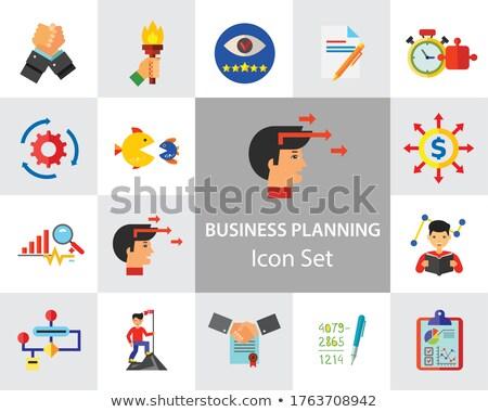 Stopwatch Icon on Multicolor Puzzle. Stock photo © tashatuvango