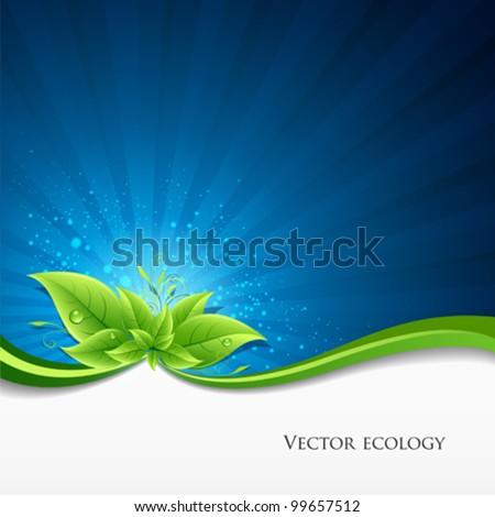 Abstrato naturalismo eco verde branco vetor Foto stock © bharat