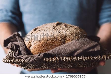 暗い パン ヒマワリ シード 白 孤立した ストックフォト © FOKA