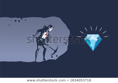 A woman with a pickaxe. Stock photo © photography33