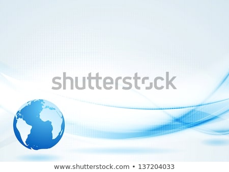 Bright smooth iridescent waves design Stock photo © saicle