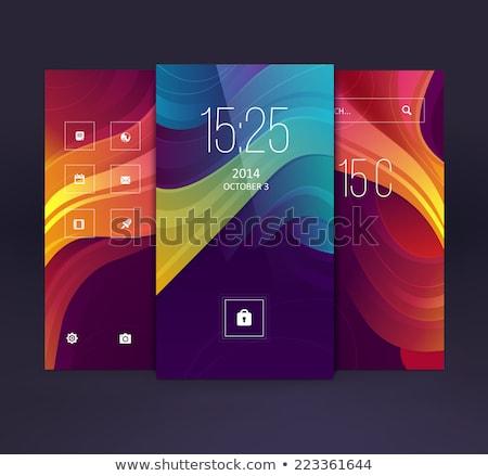 abstract modern smartphone vector background stock photo © burakowski