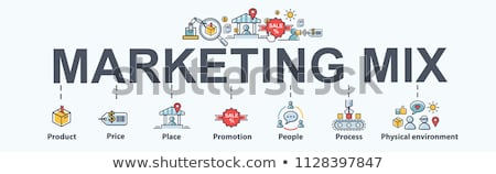 Estratégia de marketing poste de sinalização vetor futuro sucesso marketing Foto stock © burakowski