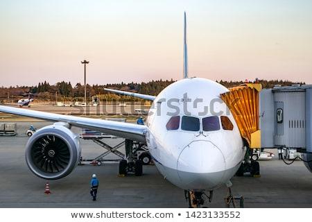 Repülőgép kapu repülőtér repülőgép forgalom park Stock fotó © meinzahn