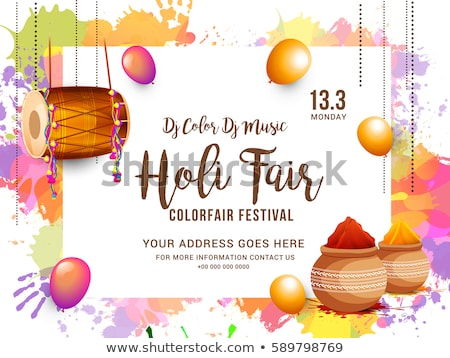beautiful vector background colorful grunge of holi festival des stock photo © bharat