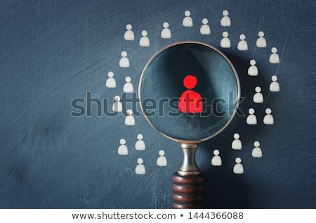 Job concept with Magnifying Glass. Stock photo © tashatuvango