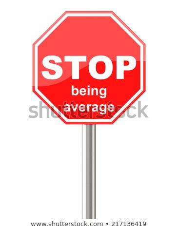 Stoppen gemiddelde 3D gegenereerde foto teken Stockfoto © flipfine