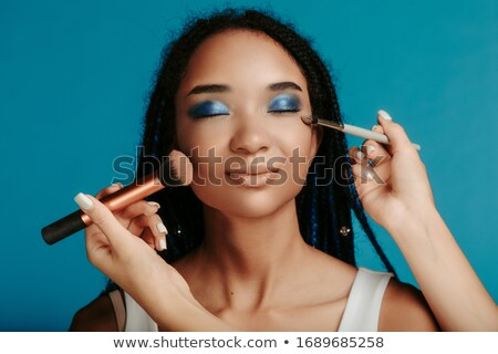 Stock photo: Glamour. Portrait of Two Women with Shiny Glossy Makeup