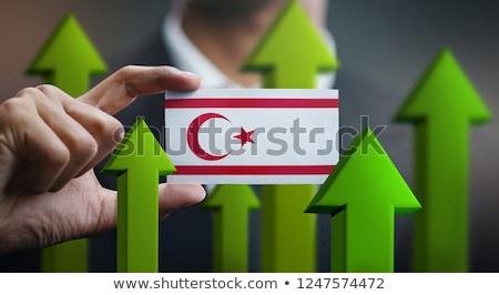 Hombre 3d turco Chipre bandera eps Foto stock © Istanbul2009