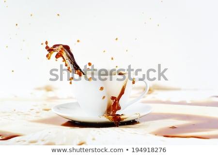 Кубок кофе красивой всплеск белый Сток-фото © dariazu