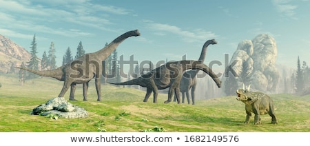 brachiosaurus dinosaur - 3d render Stock photo © mariephoto