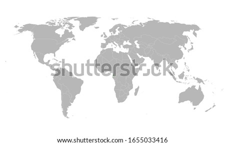 poster with simple world map infographic stock photo © orson