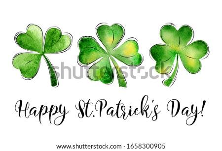 幸せ 聖パトリックの日 クローバー 標識 緑 ストックフォト © marinini