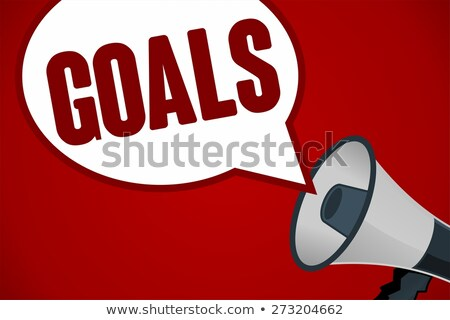 goals wording, project and business concept Stock photo © vinnstock