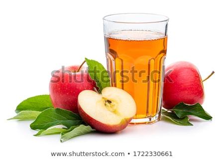 üveg almalé almák izolált fehér alma Stock fotó © ozaiachin