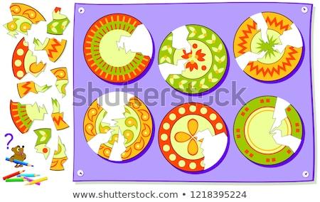 Oktatás puzzle hely hiányzó darabok szöveg Stock fotó © tashatuvango