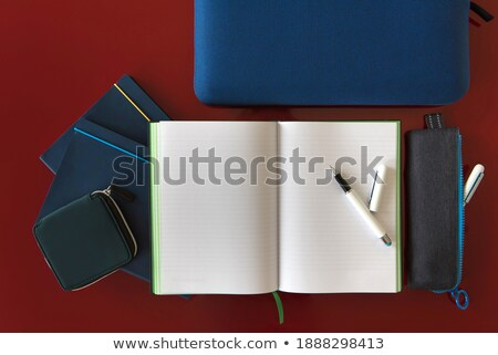 Red diary and  blue pen Stock photo © vtls
