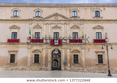 Part of Piazza del Duomo, Syracuse, Sicily, Italy Stock photo © ankarb