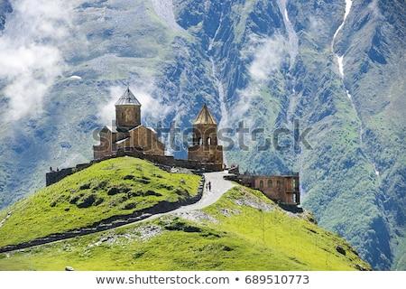 Szent templom Grúzia híres falu tavasz Stock fotó © joyr