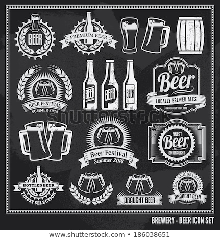 Glass Of Beer Icon Drawn In Chalk Foto stock © rtguest