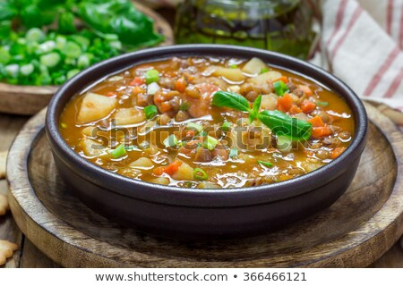 spanish lentil stew Stock photo © nito