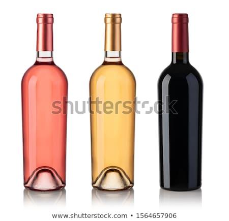 Chiuso bottiglia vino rosso isolato bianco sfondo Foto d'archivio © GeniusKp
