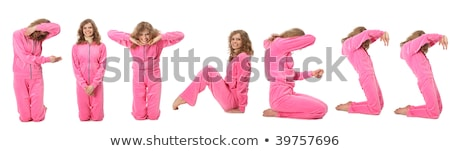 Girl in pink sport clothes represents  word SPORT Stock photo © Paha_L