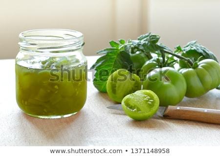 Yeşil domates gıda doğa yaprak Stok fotoğraf © avq