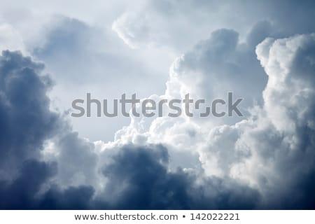Tempestuoso nuvens céu blue sky dia Foto stock © Juhku