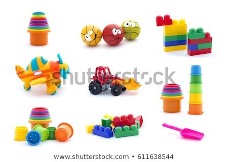 Stok fotoğraf: Sarı · plastik · oyuncak · kürek · yalıtılmış · beyaz