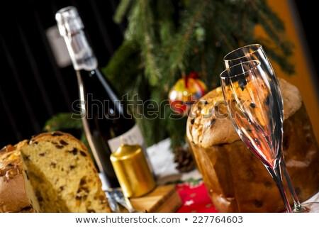 итальянский Бокалы иллюстрация вино пару торт Сток-фото © adrenalina