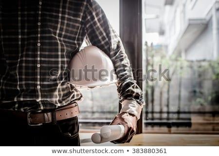 bouw · ontwerp · bouwer · werk · plaats · ingenieur - stockfoto © rastudio