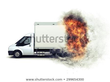 кровать · ван · 3d · визуализации · грузовика · путешествия · транспорт - Сток-фото © kjpargeter