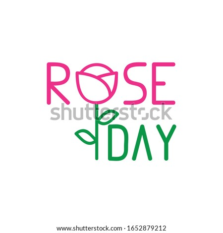 Happy Rose day card for february 7th Stock photo © shawlinmohd