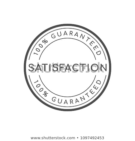 100% satisfaction  guaranteed logo Stock photo © get4net